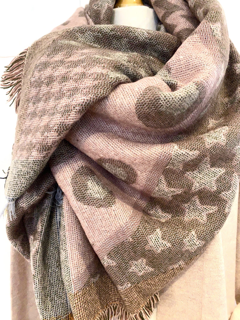 Marilyn Blanket Scarf - Blush