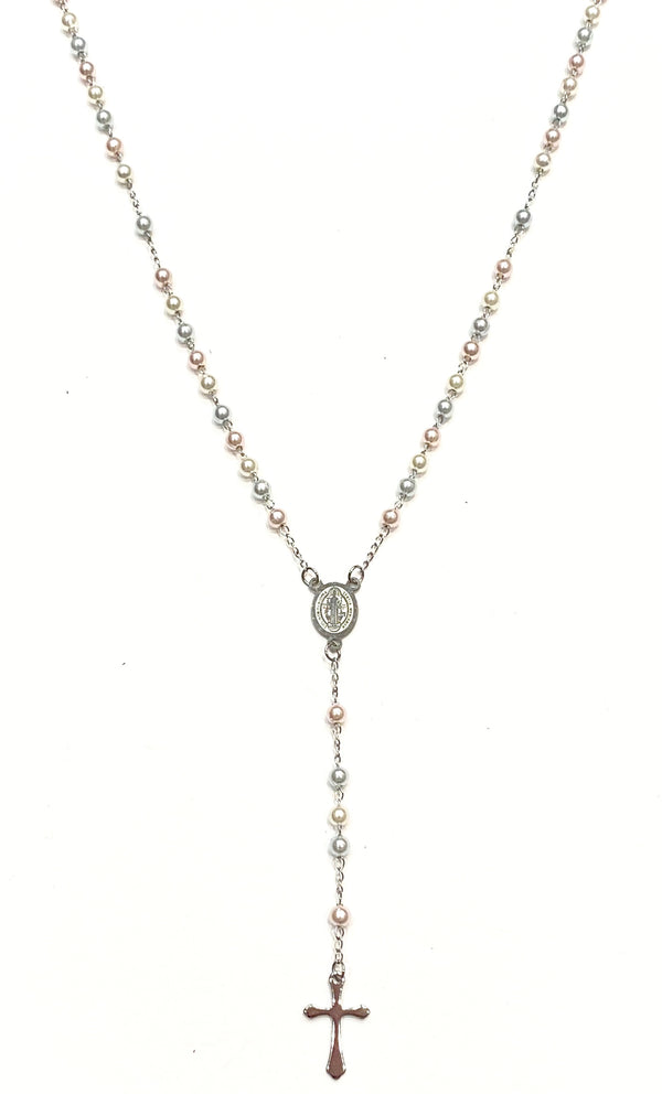 Rosary Necklace - Pearl