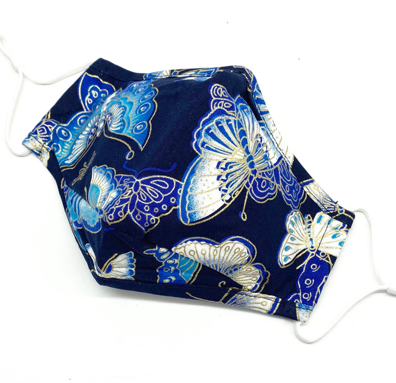 Face Mask - Blue Butterfly