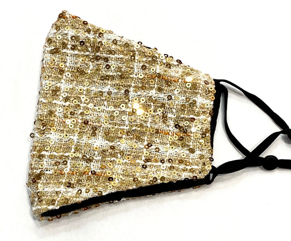 Face Mask - Tweed Sequin