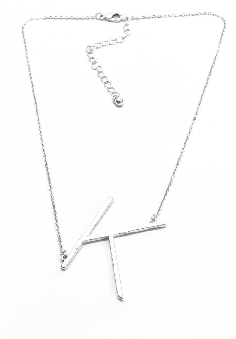 Initial Necklace - Silver