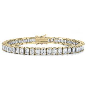 Emerald Cut Tennis Bracelet