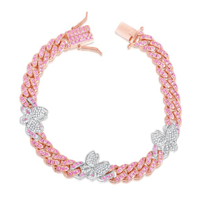 Rose Butterfly Cuban Anklet