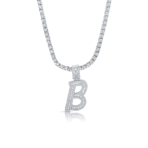 Iced Initial Tennis Necklace