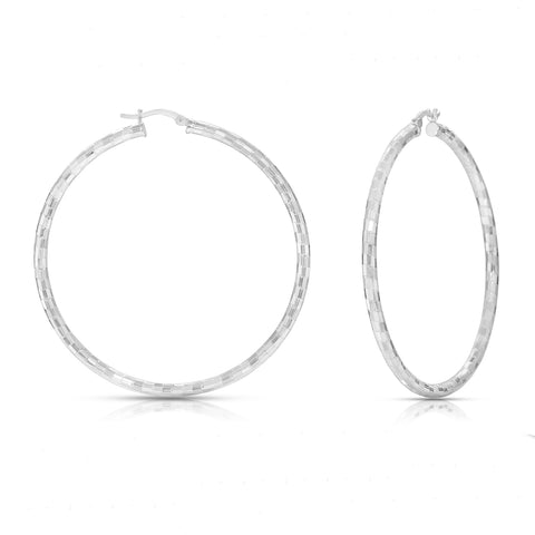 The Silver Michelle Hoop