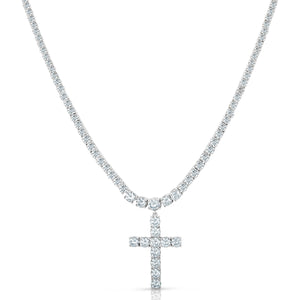 Cross Tennis Necklace