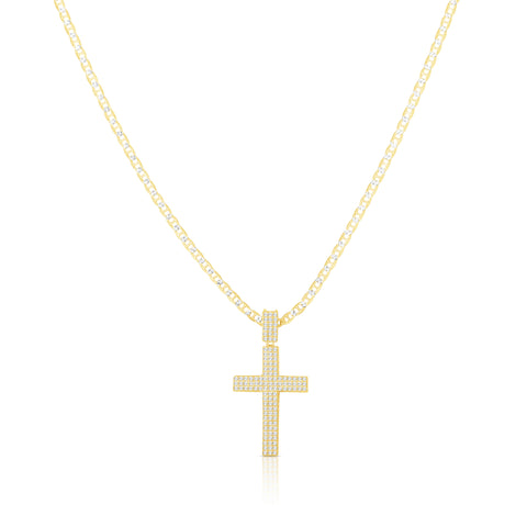 Box Style Cross Necklace