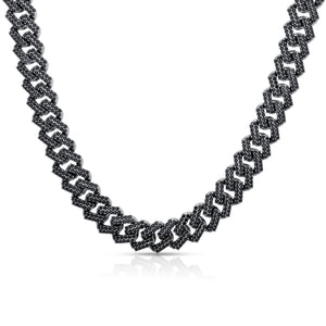BLACK EFFECT CZ CURB CHAIN