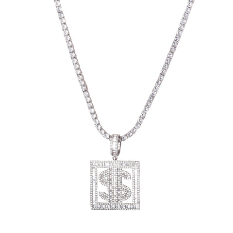 Dolla Sign Pendant Necklace