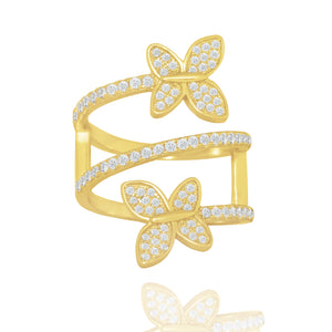 Butterfly Spiral Ring