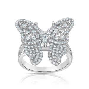 Caged Butterfly Ring