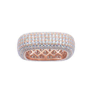 Large Pave Square Ring