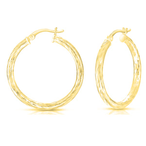 Thick Textured Hoop Earrings