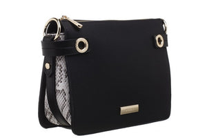 Bessie of London Bag In Two Colours with Leopard Primt Sides