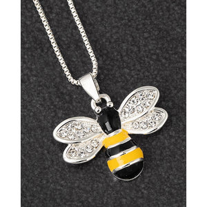 Silver Plated Bumble Bee Necklace