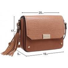 Load image into Gallery viewer, Bessie of London Handbag with Strap and Tassles In 2 Colours