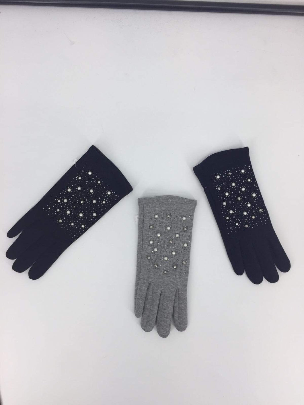 Luxury Boxed Gloves Covered In Pearls In 3 Colours