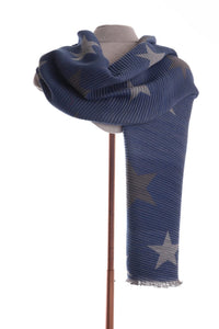 Blue Scarf with Star