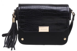 Bessie of London Handbag with Strap and Tassles In 2 Colours