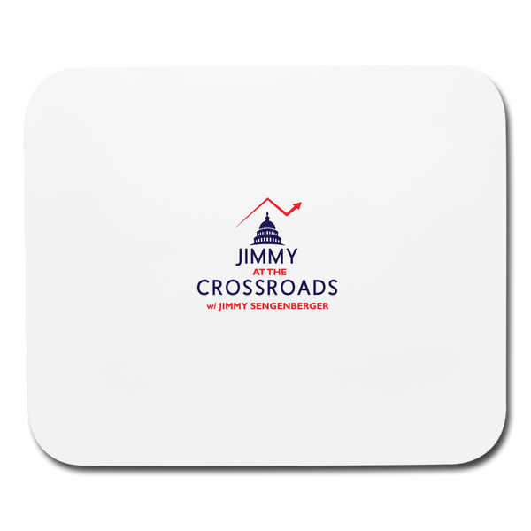 Jimmy at the Crossroads Mousepad - white