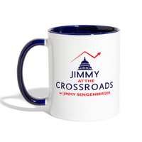 Jimmy Contrasted Mug - white/cobalt blue