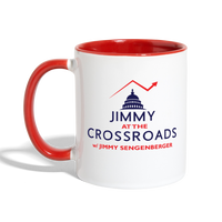 Jimmy Contrasted Mug - white/red