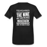 "Men's ""Nine Most Terrifying Words"" - Premium Organic T-Shirt - black"