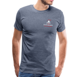 "Men's ""Sengenberger: All E's, All the Time!"" Premium T-Shirt - heather blue"