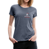 "Women's ""Making Sense of Nonsense"" Premium T-Shirt - heather blue"