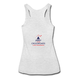 "Women's ""Still Proud"" Tri-Blend Racerback Tank - heather white"