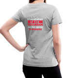 """Making Sense of Nonsense"" - Women's V-Neck T-Shirt - gray"