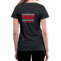 """Making Sense of Nonsense"" - Women's V-Neck T-Shirt - black"