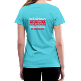 """Making Sense of Nonsense"" - Women's V-Neck T-Shirt - aqua"