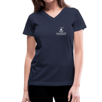 """Making Sense of Nonsense"" - Women's V-Neck T-Shirt - navy"