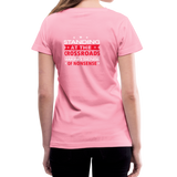"""Making Sense of Nonsense"" - Women's V-Neck T-Shirt - pink"