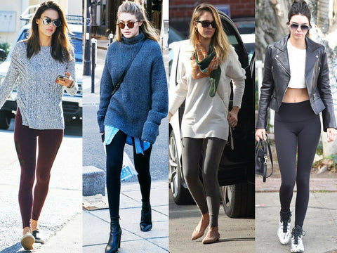 Should leggings be worn outside of the gym?