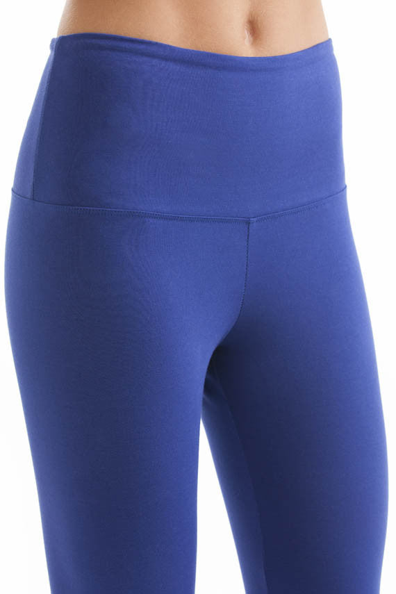 Svelte basic capris blue waist panel