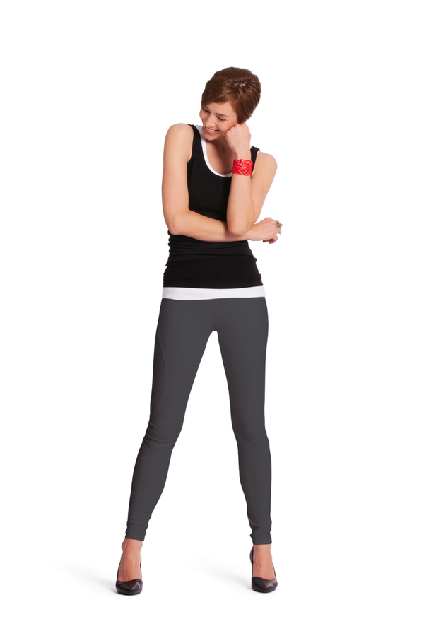 Curved Seam Tight Ankle Leggings