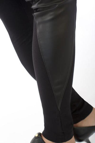 Leather Spike Leggings