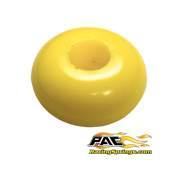 Ellipse Urethane Bump Rubber 1'' Tall - 80 Durometer - Yellow