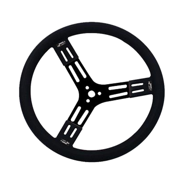 Longacre 15' Black Alum Fat Grip Steering Wheel