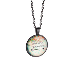 Necklace 'World Map'