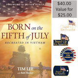 Born on the Fifth of July Book with Free Stand Up for America Pin