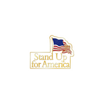 Stand Up For America Pin