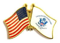 US & Coast Guard Flag Lapel Pin