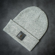 Load image into Gallery viewer, Black-leather-label beanie (colors available)
