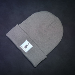 Reflective-leather-label beanie