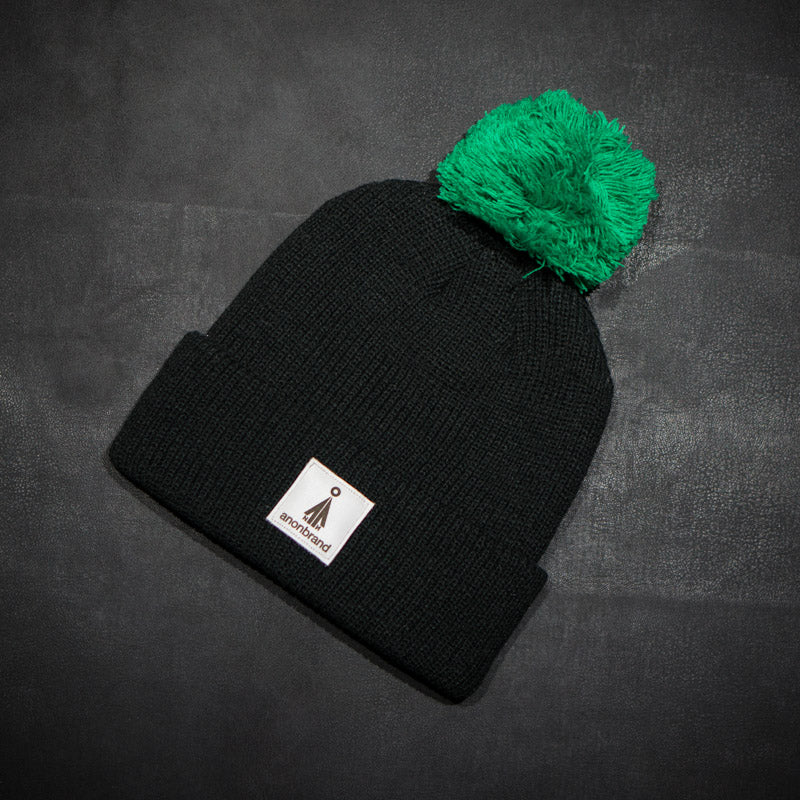 White-leather-label snow beanie  (colors available)