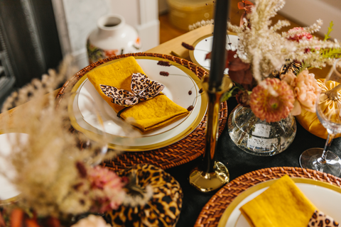 For the Love of Leopard tablescape