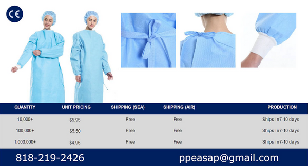 SMS Surgical Gowns - Level 3